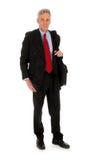 Hombre de negocios con la computadora portátil Imagen de archivo