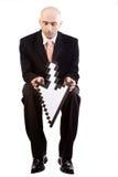 Hombre de negocios con la flecha Fotografía de archivo libre de regalías