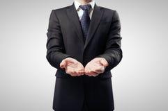 Hombre de negocios con la mano imagen de archivo
