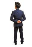 Hombre de negocios con las manos detrás el suyo detrás Fotos de archivo libres de regalías