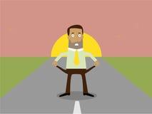 Hombre de negocios con los bolsillos vacíos stock de ilustración