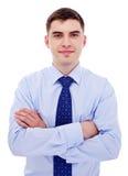 Hombre de negocios con los brazos cruzados Imagen de archivo