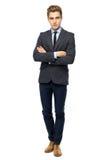 Hombre de negocios con los brazos plegables Imagenes de archivo