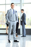 Hombre de negocios con los colegas Imagen de archivo
