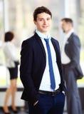 Hombre de negocios con los colegas Imagenes de archivo