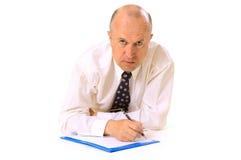 Hombre de negocios con los documentos Imágenes de archivo libres de regalías