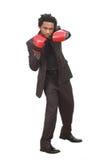 Hombre de negocios con los guantes Fotos de archivo