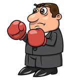 Hombre de negocios con los guantes de boxeo 2 Foto de archivo libre de regalías