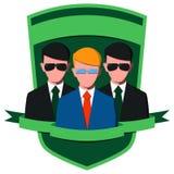 Hombre de negocios con los guardias del cuerpo Imágenes de archivo libres de regalías