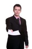 Hombre de negocios con los papeles Imagen de archivo libre de regalías