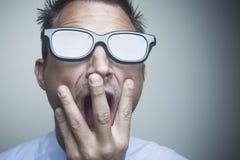 Hombre de negocios con los vidrios Imagen de archivo libre de regalías
