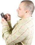 Hombre de negocios con PDA Fotos de archivo libres de regalías