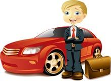 Hombre de negocios con un coche Imagenes de archivo