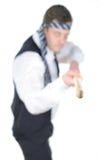 Hombre de negocios preparado para la lucha Imagen de archivo libre de regalías