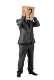 Hombre de negocios con un rectángulo Foto de archivo libre de regalías