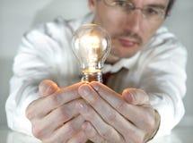 Hombre de negocios con una idea Imagenes de archivo