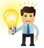 Hombre de negocios con una idea Imágenes de archivo libres de regalías