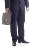 Hombre de negocios con una maleta Foto de archivo libre de regalías
