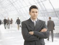 Hombre de negocios confidente Imagen de archivo libre de regalías