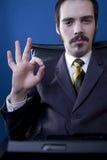 Hombre de negocios confidente Imagenes de archivo