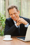 Hombre de negocios confidente Imágenes de archivo libres de regalías