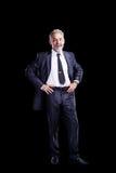 Hombre de negocios confidente fotografía de archivo