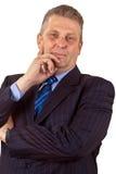 Hombre de negocios confidente Foto de archivo libre de regalías