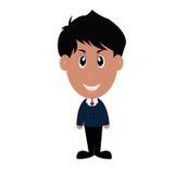 Hombre de negocios confidente con los brazos cruzados ilustración del vector