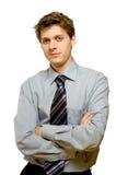 Hombre de negocios confidente joven Fotos de archivo