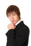 Hombre de negocios confidente listo para solucionar Imagenes de archivo