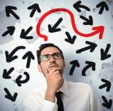Hombre de negocios confuso imagen de archivo libre de regalías