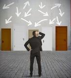 Hombre de negocios confuso Imagenes de archivo