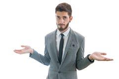 Hombre de negocios confuso Fotos de archivo
