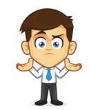 Hombre de negocios confuso Gesturing ilustración del vector