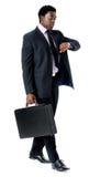 Hombre de negocios consciente del tiempo Fotos de archivo libres de regalías