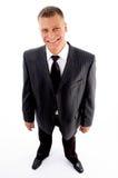 Hombre de negocios contento derecho Fotografía de archivo libre de regalías