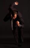Hombre de negocios, corriendo adelante Fotos de archivo