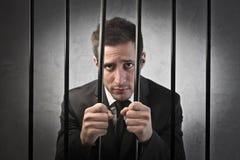 Hombre de negocios culpable Foto de archivo libre de regalías