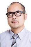 Hombre de negocios de Asia mudo fotografía de archivo libre de regalías