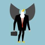 Hombre de negocios de Eagle pájaro del negocio en traje ilustración del vector