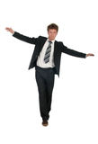 Hombre de negocios de equilibrio Imagenes de archivo