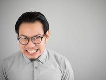 Hombre de negocios de Glad Asian Fotografía de archivo