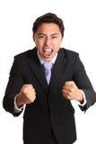 Hombre de negocios de griterío Fotos de archivo libres de regalías