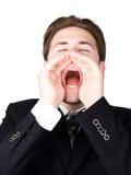 Hombre de negocios de griterío Imagenes de archivo