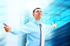 Hombre de negocios de Hapiness Imagen de archivo libre de regalías