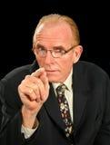Hombre de negocios de intimidación Foto de archivo libre de regalías