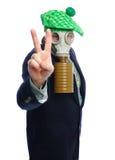 Hombre de negocios de la careta antigás Foto de archivo libre de regalías