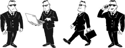 Hombre de negocios de la historieta Fotografía de archivo libre de regalías