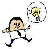 Hombre de negocios de la idea Foto de archivo