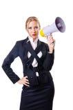 Hombre de negocios de la mujer aislado Foto de archivo